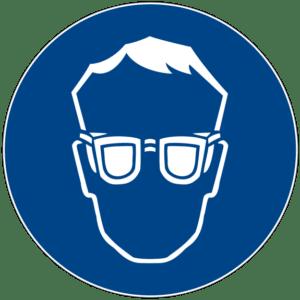 Gebotszeichen: Augenschutz verwenden